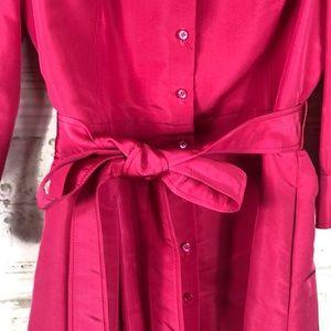 Carolina Herrera Dresses - Carolina Herrera | NWTBright Pink Silk Shirt Dress